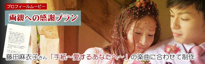 藤田麻衣子さんの手紙の楽曲に合わせたプロフィールムービー