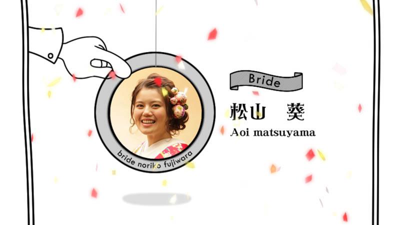結婚式のプロフィールムービーのかわいいを選択!